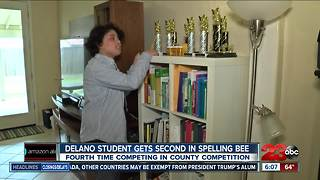 Delano middle schooler places second in spelling bee - Video