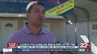 Church focusing on rebuilding after fire
