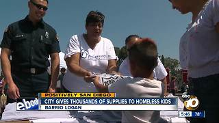 San Diego gives thousands of supplies to homeless kids