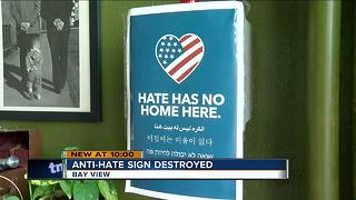 Milwaukee brewery's 'Hate Has No Home Here' sign torn down - Video