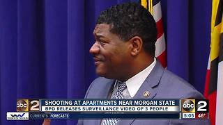 Police looking for persons linked to shooting near Morgan State - Video