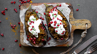 Delicious stuffed curry eggplant recipe - Video