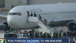 Packers Team Plane Grounded by Fog - Video