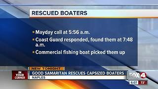 2 men rescued after boat capsizes in Gulf of Mexico - Video