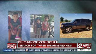 Police search for three endangered missing children - Video