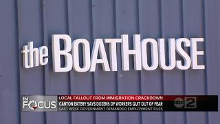 30 workers at Boathouse Canton restaurant gone over immigration review - Video