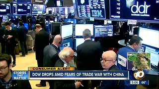 Dow drops 700 points - Video