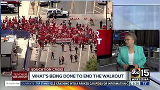 Diane Douglas speaks about Arizona teacher walkout - Video