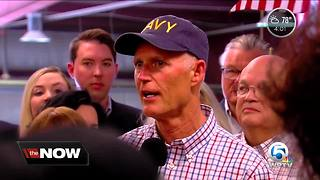 Governor Rick Scott rally in Riviera Beach - Video