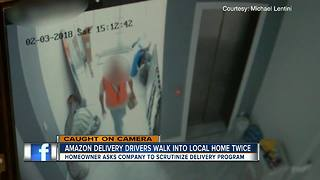 Sarasota family says Amazon delivery drivers walked into their home without permission - Video