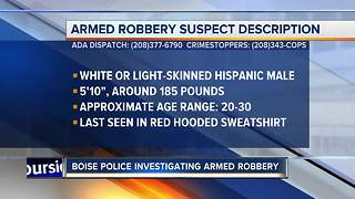 Officers investigating reported armed robbery late Saturday night - Video