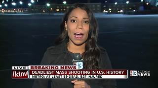Las Vegas Convention Center hosts families looking for loved ones after shooting - Video