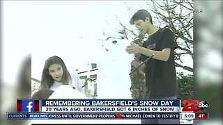 Remembering Bakersfield's snow day 20 years later