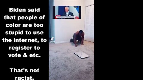 Biden is Right - Black & Brown People Can't Figure Out the Internet