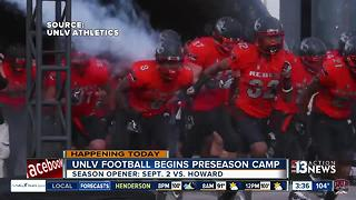 Preseason camp for UNLV Rebels football team - Video