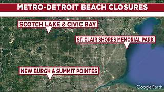 30 Michigan beaches closed due to high bacteria levels; 4 in metro Detroit - Video