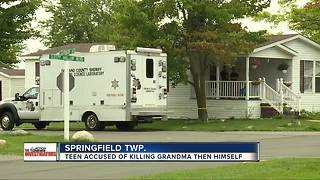 Springfield Township teen accused of killing his grandmother and then himself - Video