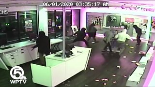 Surveillance video shows looters ransack T-Mobile store