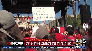 Arizona Governor announces budget deal for teachers - Video