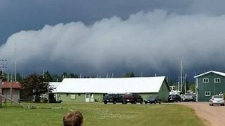 Shelf Clouds Linger Near Lake Superior on Independence Day - Video