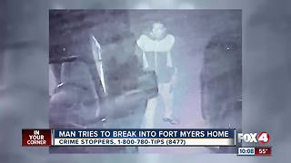 Man Tries to Break into Fort Myers Home - Video