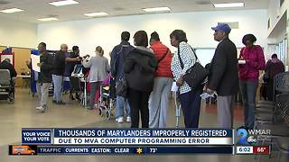 Computer error impacts thousands of voters before primary - Video