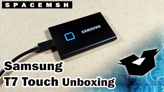 Samsung T7 Touch SSD Unboxing