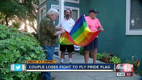 Couple loses fight to fly pride flag
