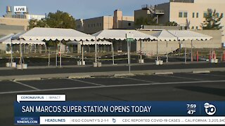 North County super vaccination station opens in San Marcos