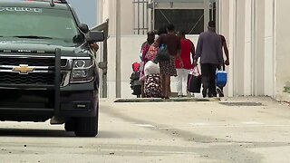 Families arrive at shelters ahead of Hurricane Dorian