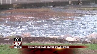Heavy rains cause sewage spill in rivers