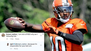 RG3 DESTROYS the Browns AND Their Fans in One Instagram Comment - Video