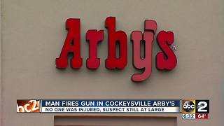 Man fires gun in Cockeysville Arby's during robbery - Video