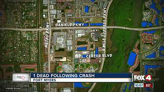 1 Dead Following a Fort Myers Crash - Video