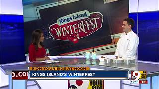 Kings Island Winterfest food - Video