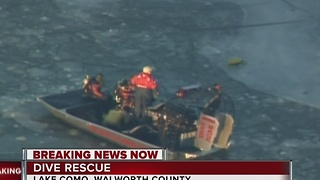 Dive teams searching for man who fell through ice in Town of Geneva - Video