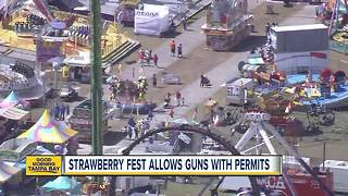 Strawberry Festival allows guns with permits - Video