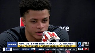 UMD men's basketball gets 6th seed in NCAA Tournament, will face winner of Belmont and Temple