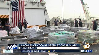 Coast Guard offloads tons of cocaine in San Diego