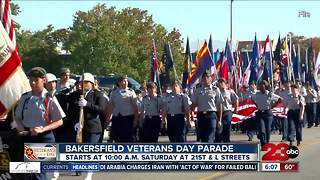 Veterans Day Parade in downtown Bakersfield - Video