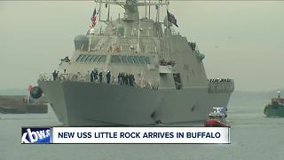 The new USS Little Rock arrives in Buffalo - Video