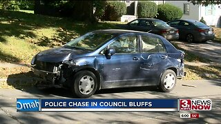 Police chase in Council Bluffs