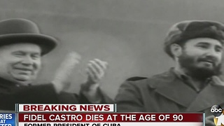 Fidel Castro dies at the age of 90 - Video
