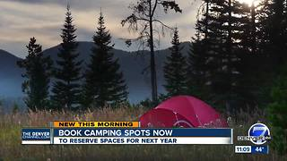 State Parks encourages campers to book spots early for busy weekends - Video