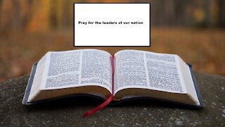 Pray for Our Leaders | Weekday Word | Nov 3, 2020