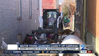 Mayor Young launches Clean It Up! campaign