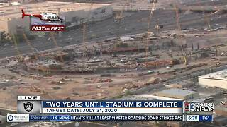 2 years until stadium is complete - Video