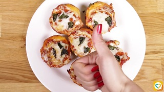 These delectable deep dish pizza bites are sure to make your mouth water! - Video