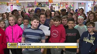 Kevin visits Miller Elementary School in Canton