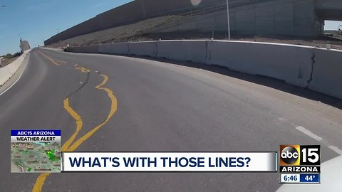 Operation Safe Roads: What's with the crooked lane lines on Pecos Road?